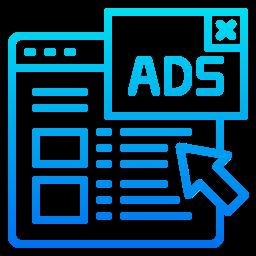 Icono de configuración de campañas publicitarias